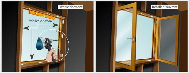 Poser les menuiseries ext rieures d 39 une maison en bois for Fenetre ossature bois