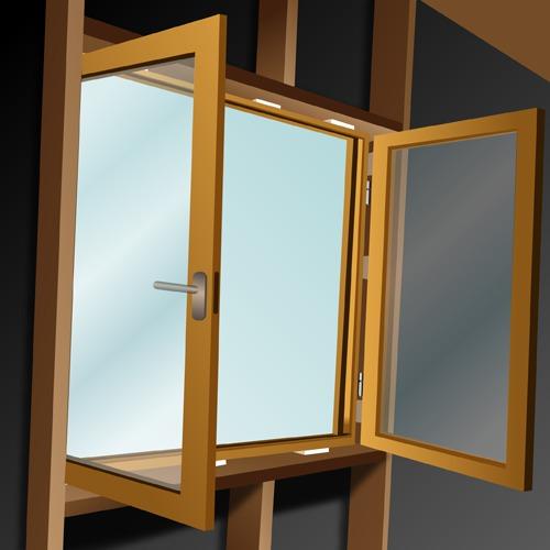 Poser les menuiseries extérieures d'une maison en bois