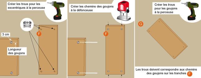 Comment fabriquer la structure d 39 un lit escamotable - Fabriquer un lit 2 places ...