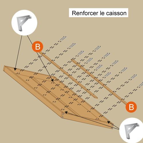 Comment fabriquer la structure d 39 un lit escamotable - Comment fabriquer un sommier ...