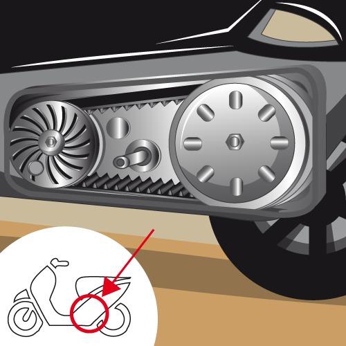Changer la transmission d'un scooter