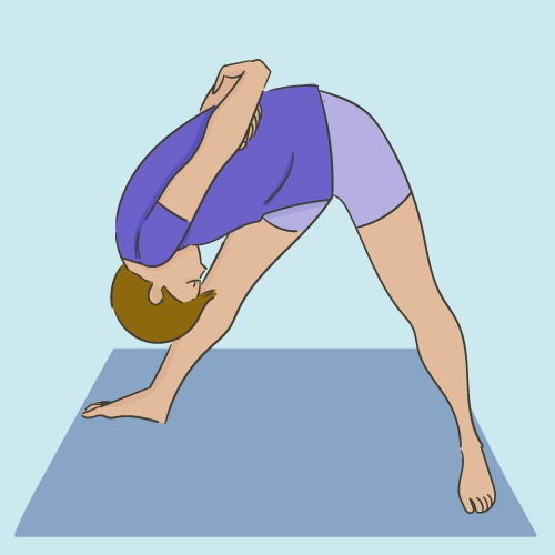 Parśvottānāsana : la posture de l'Étirement intense du flanc