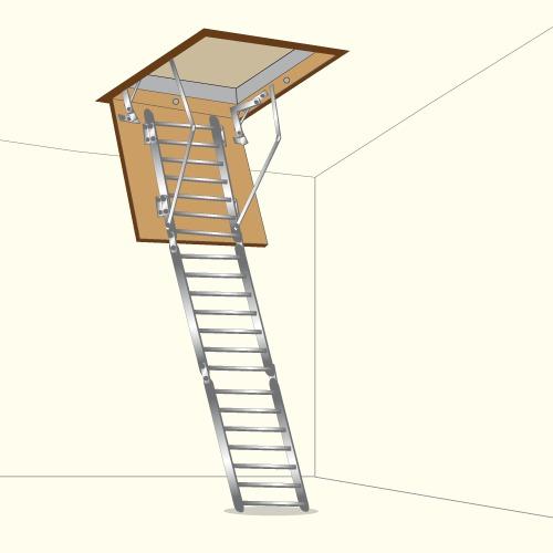 Poser un escalier escamotable