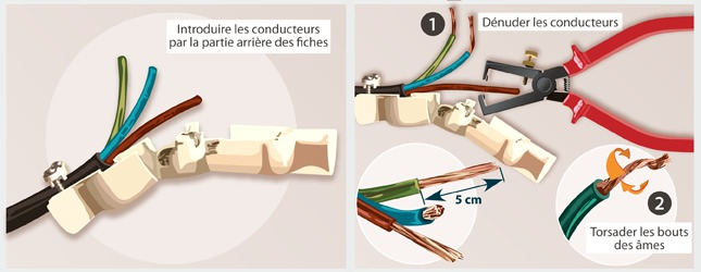 raccorder 3 fils electrique finest schema de brabchement et cablage volet roulant electrique. Black Bedroom Furniture Sets. Home Design Ideas
