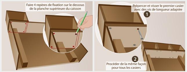Comment fabriquer une t te de lit avec rangements - Fabriquer un tiroir en contreplaque ...