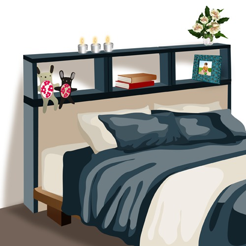 comment fabriquer une t te de lit avec rangements. Black Bedroom Furniture Sets. Home Design Ideas