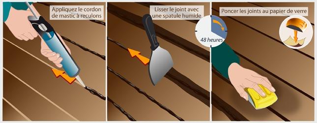 R ussir la pose d 39 un parquet pont de bateau - Joint de pont de bateau ...