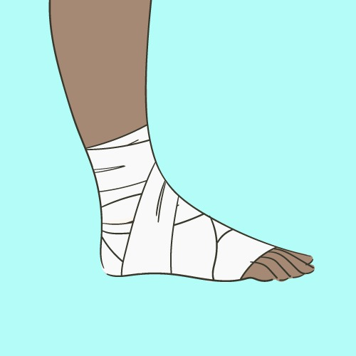 Comment faire un bandage à la cheville