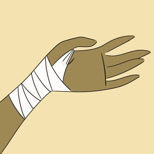Faire un bandage au poignet
