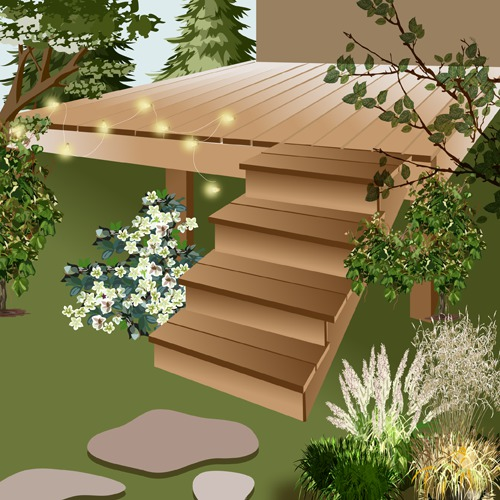 Construire un escalier de terrasse en bois