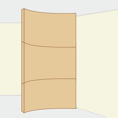 monter une cloison courbe en plaques de pl tre ooreka. Black Bedroom Furniture Sets. Home Design Ideas