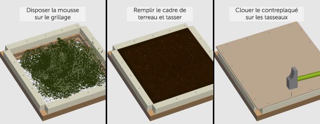 fabriquer un cadre v g tal mural. Black Bedroom Furniture Sets. Home Design Ideas