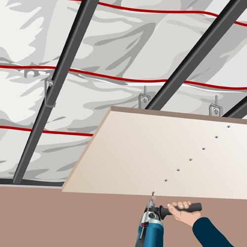 Réussir La Pose Dun Plafond Suspendu Ooreka