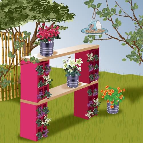 Comment créer une déco de jardin en récup