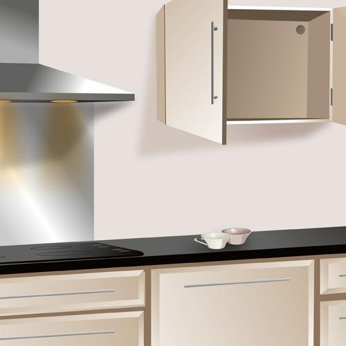 armoire cuisine haute