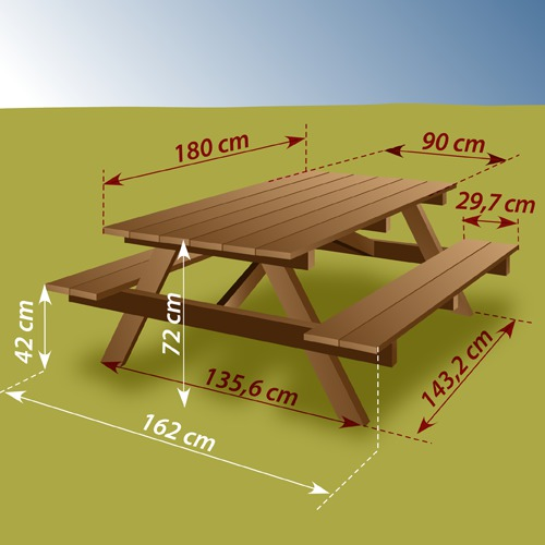 Best table de jardin bois picnic photos amazing house for Construire table jardin bois