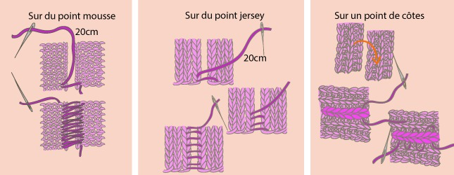 comment coudre un tricot au point mousse
