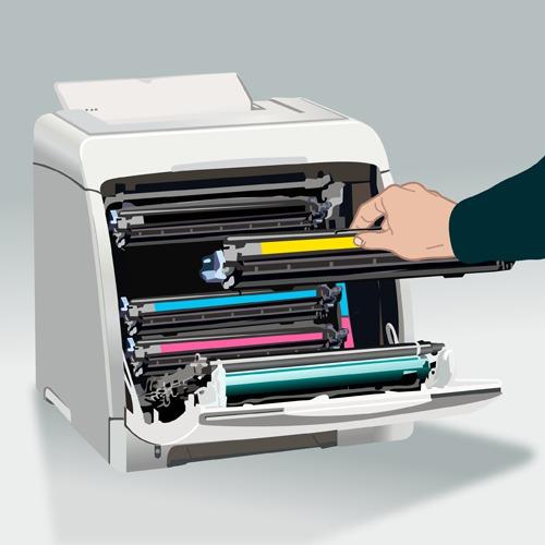 Changer un toner d'imprimante laser