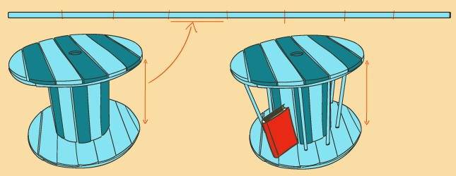Comment Transformer Un Touret En Table Basse Ooreka