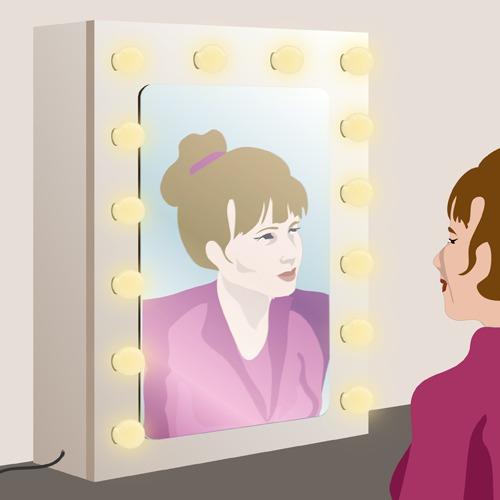 Fabriquer un miroir de maquillage avec ampoules