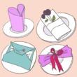 Réaliser un pliage de serviette pour un mariage