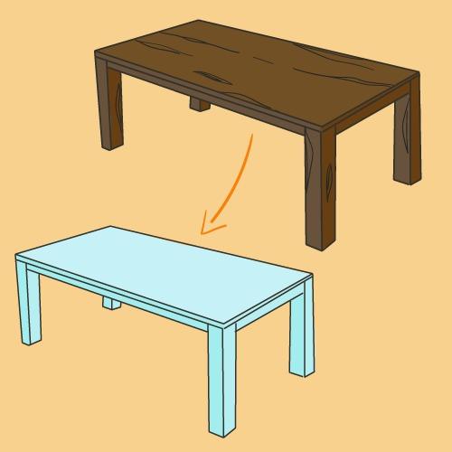Comment Renover Une Table En Bois Ooreka