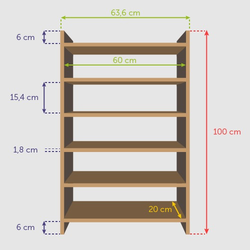 comment fabriquer une tag re en bois ooreka. Black Bedroom Furniture Sets. Home Design Ideas
