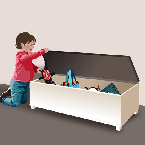 Fabriquer un banc avec coffre de rangement