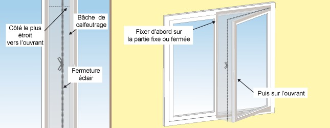calfeutrer une fenêtre pour climatiseur - ooreka