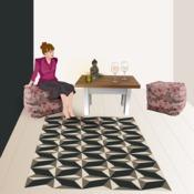 comment peindre un trompe l il au sol ooreka. Black Bedroom Furniture Sets. Home Design Ideas