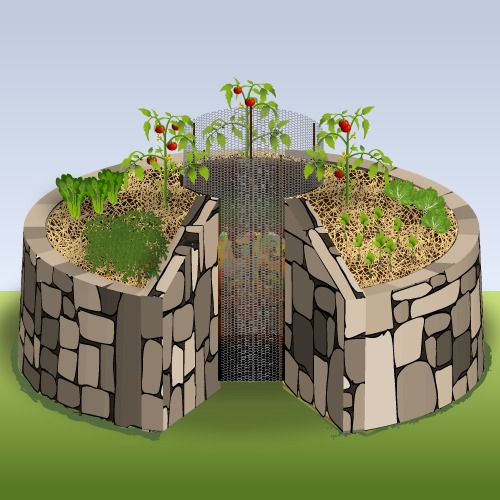 Créer un jardin en trou de serrure ou keyhole garden - Ooreka