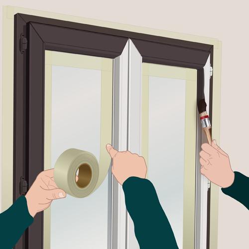 Peindre des fenêtres PVC