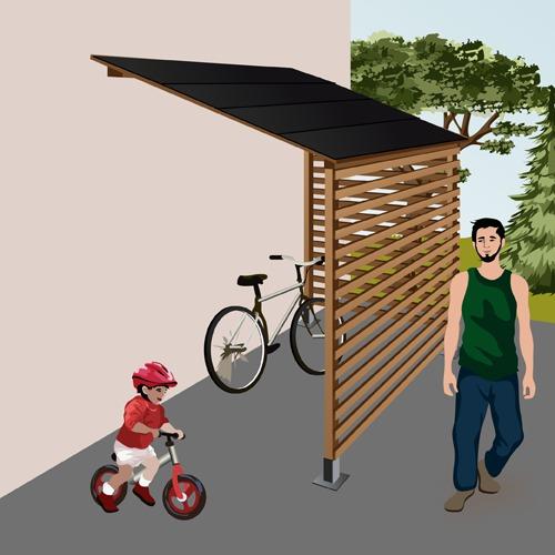 Construire un abri à vélo