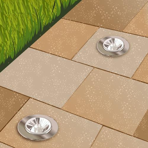 Poser des spots encastrables sur une terrasse