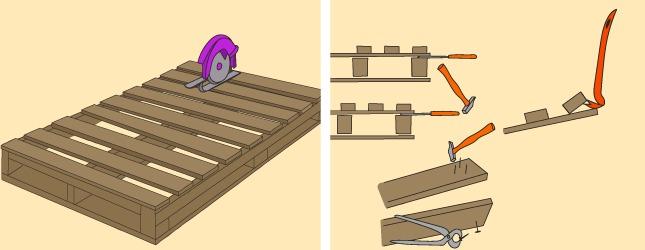 Surréaliste Comment fabriquer un plancher avec des palettes ? Ooreka UX-78