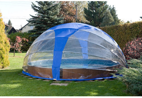 Abri de piscine repliable principe crti res de choix for Dome piscine