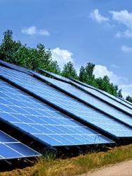 Panneaux solaires photovoltaïques au grand air