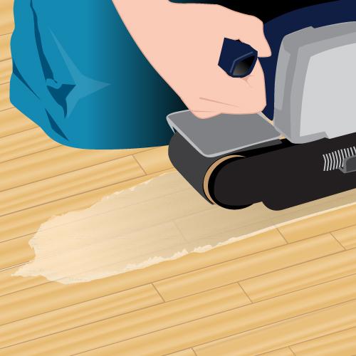 Remplacer une lame de parquet contrecoll vitrifi parquet for Poncer parquet vitrifie