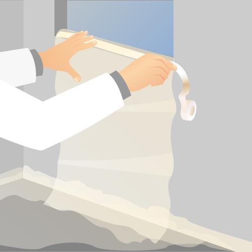 Protégez les surfaces que vous n'allez pas peindre