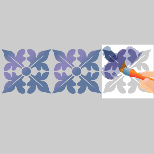 Peinture au pochoir avec des effets peinture for Pochoir peinture
