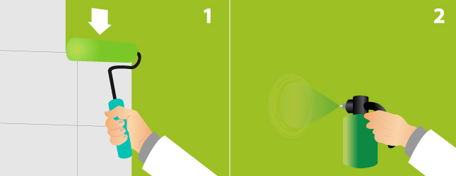 Lu0027effet Dit « Mixte » Est Obtenu En Utilisant Deux Techniques De Peinture  Différentes : Avant De Peindre à Lu0027éponge, Vous Peignez Le Mur Une Première  Fois ...