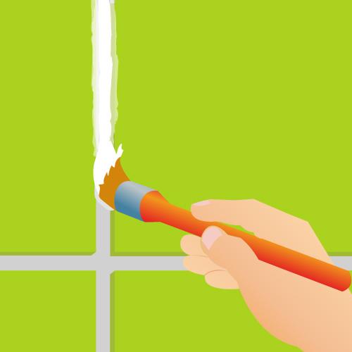 Peignez les joints