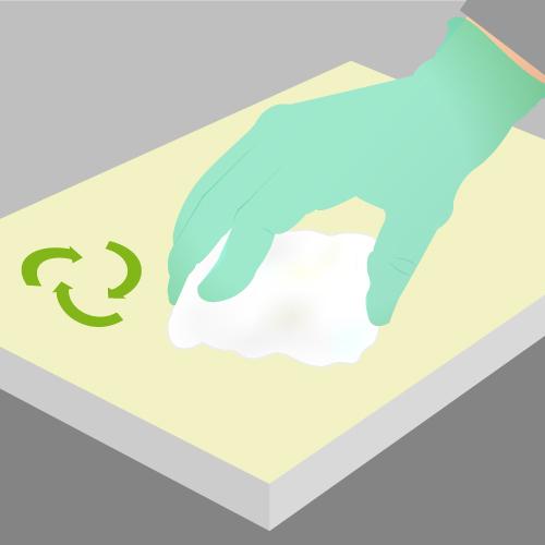 1 nettoyez et dgraissez la surface en pvc