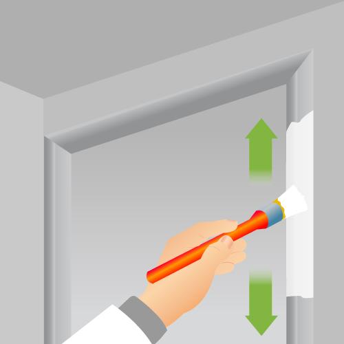 Peindre une porte porte for Peinture bois interieur sans poncer