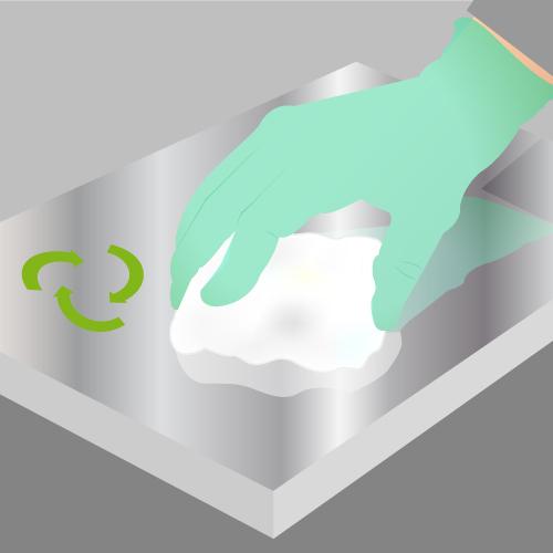 Dégraissez la surface en aluminium