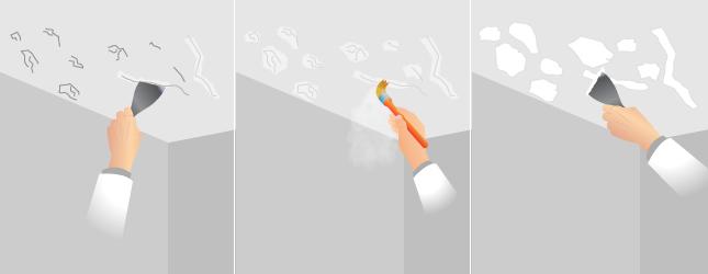 Préparer Un Plafond Pour Le Peindre Peinture - Humidite plafond salle de bain