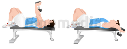 Exercices musculation et pull over