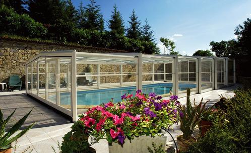 Abri de piscine classique droit