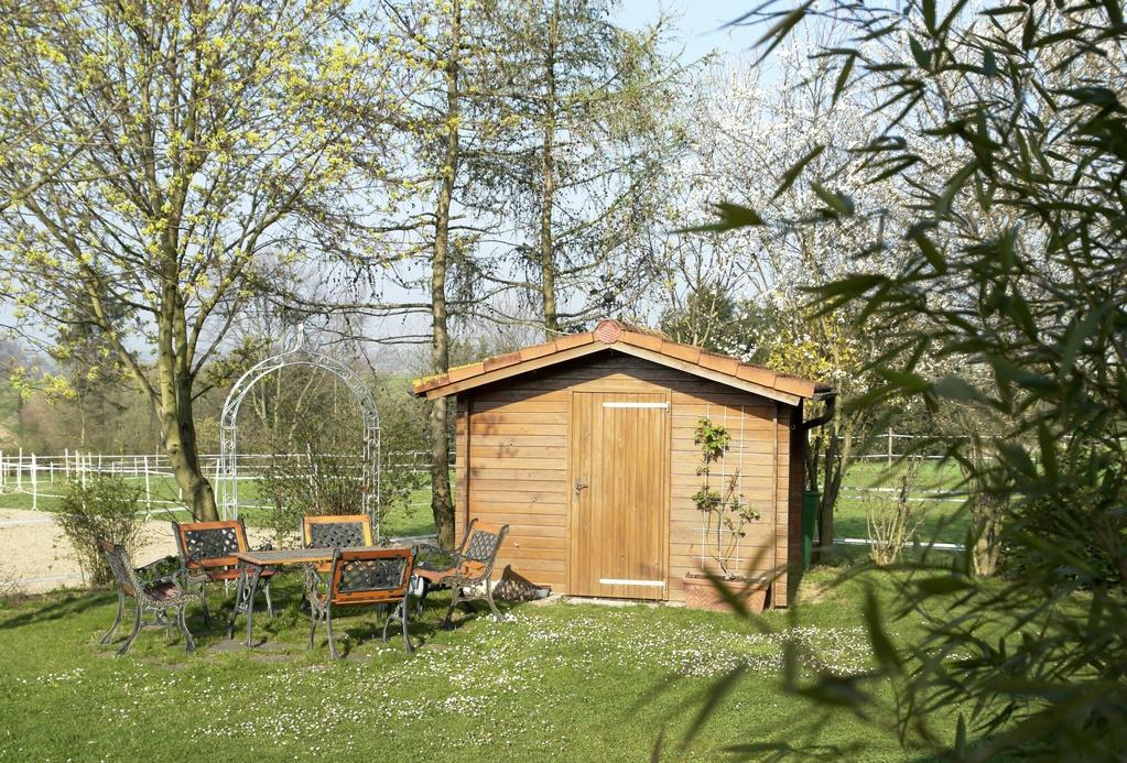 Armoire de jardin en bois choix entretien et prix ooreka for Prix entretien jardin