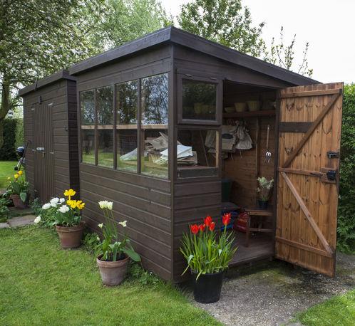 Construire Son Propre Abri Jardin. Good Fondations Pour Un Abri De